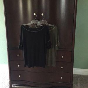 Set of 2 short sleeve sweaters